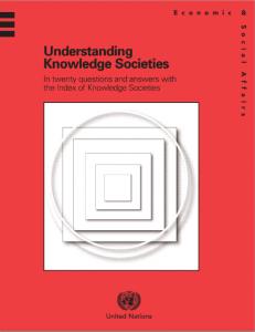 Understanding Knowledge Society rapporti ricerca Irene Tinagli